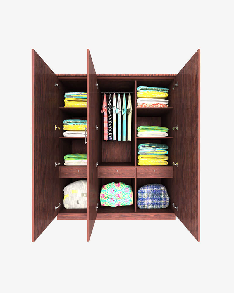 Computer Desk PC Dressing Table with 3 Drawers Storage Shelves Bookshelf Office
